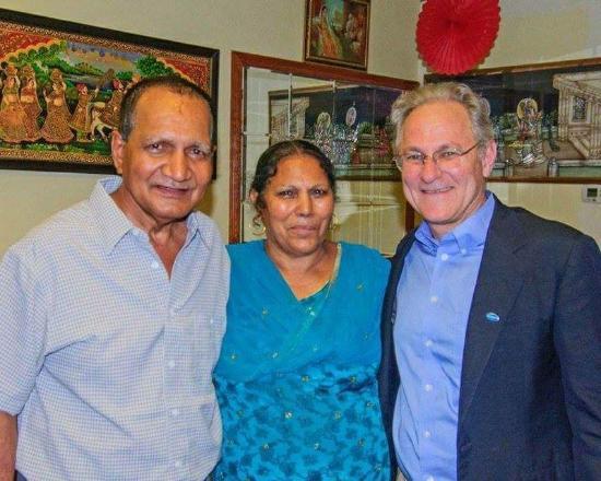 India Oven Cuisine of India: Our Mayor enjoying Tucson's finest Indian Food