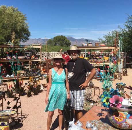 Tubac, AZ: yours truly enjoying the scene / Santa Rita mtns in background