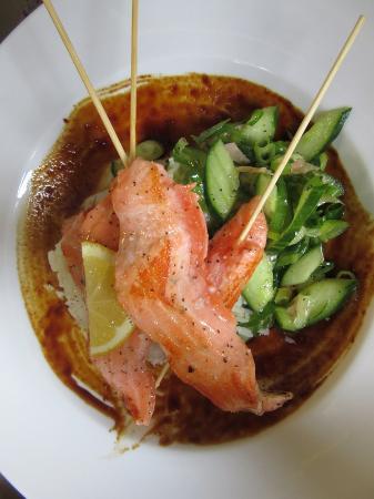Morri Street Cafe: Salmon Skewers
