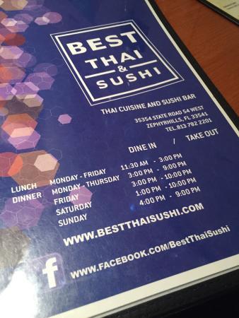 Zephyrhills, FL: Best Thai Sushi