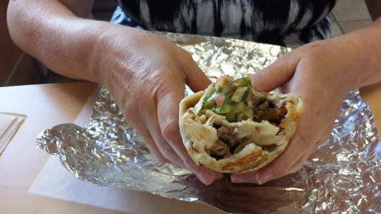 Spring Hill, FL: Inside view of grilled burrito!!!