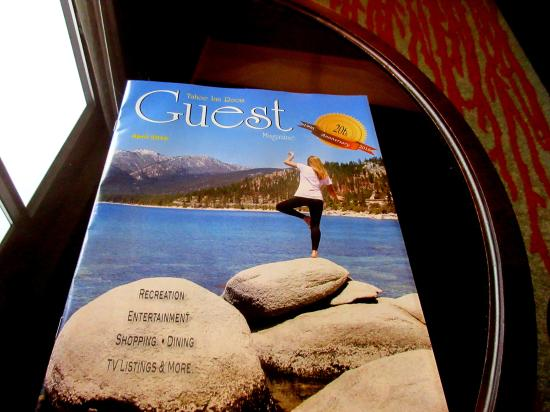 Guest Magazine in Room, King Size Room, Hard Rock Hotel & Casino, Lake Tahoe, NV