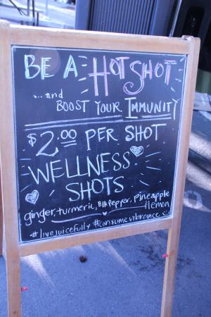 Chico, CA: Healthy drinks