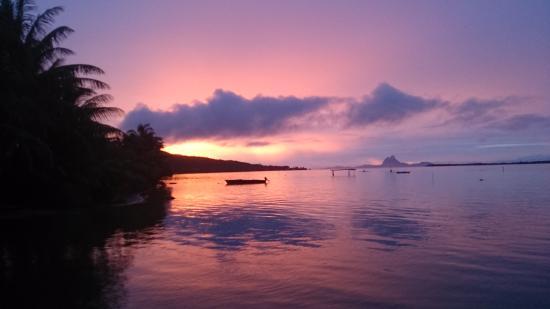 Patio, Polinesia Prancis: COUCHER DE SOLEIL
