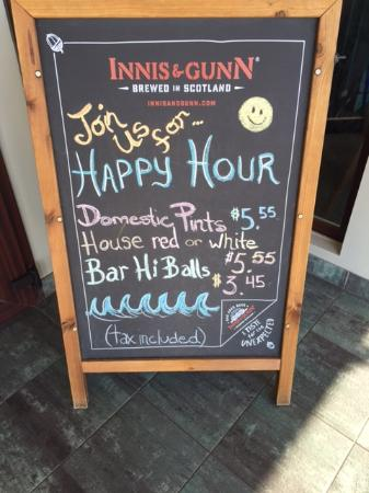Riptide Marine Pub: Happy Hour Specials 3:00-5:30pm Daily!