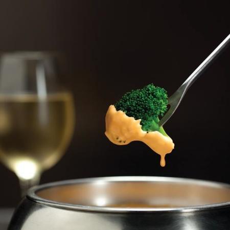 San Mateo, Kalifornien: Melted Cheese Fondue