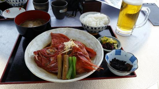 Umibe : Cooked Splendied Alfonsino (Kinmedai) Lunch