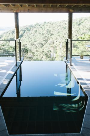 Opua, Nowa Zelandia: Infinity plunge pool