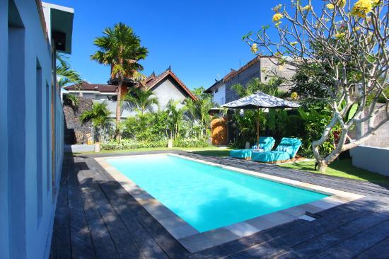 The Apartments Canggu: pool area - kayu jati batik - one bedroom apartment complex