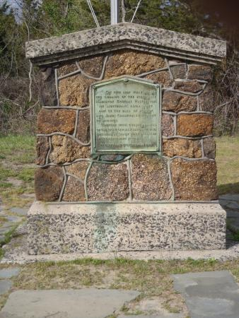 Sandy Hook, NJ : Halyburton Memorial, built by the CCC ( Civilian Conservation Corps in 1939. )
