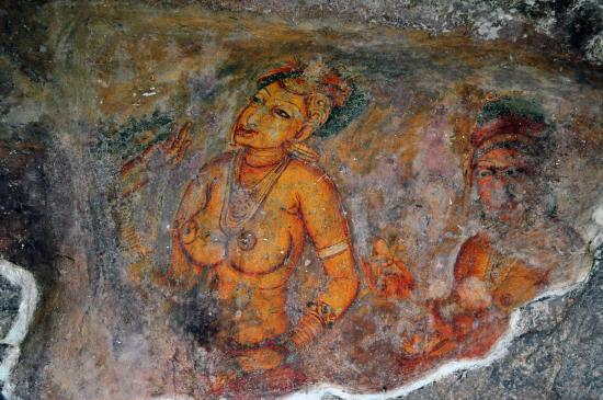 Citadel of Sigiriya - Lion Rock: Sigiriya frescoes