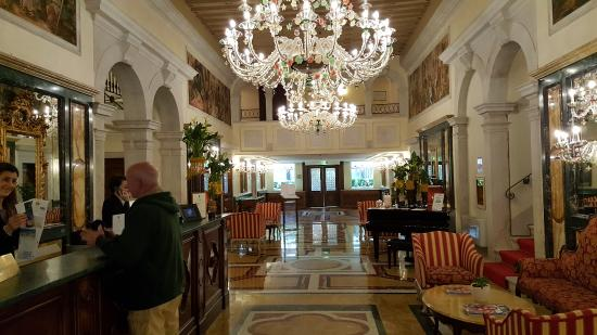 Elegant Lobby with Old World Flare