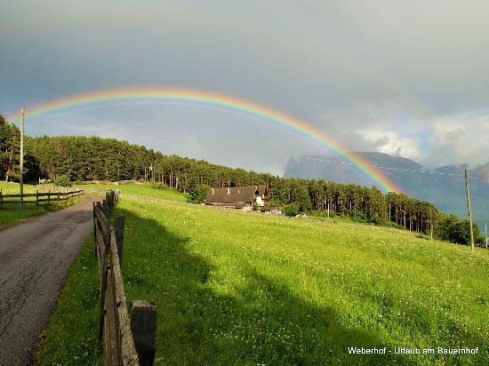 Renon, Italia: Weberhof in idyllischer Lage