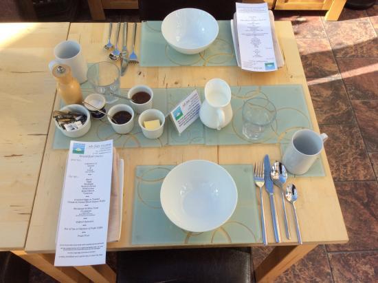 Bishopstone, UK: Breakfast almost ready...