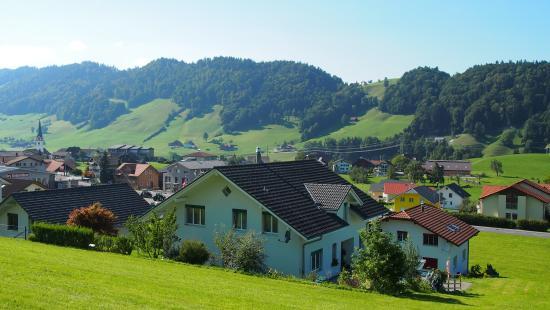Hasle, Switzerland: Haus mit Aussicht
