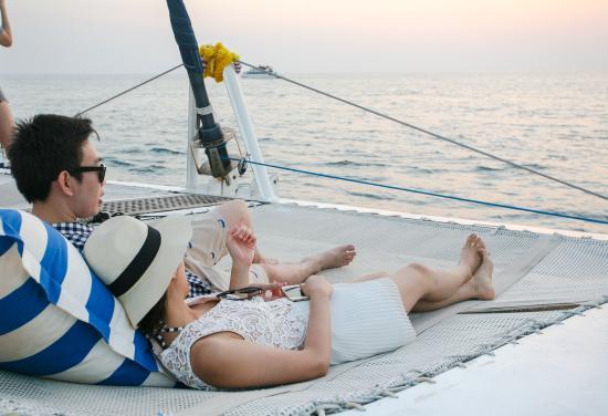 Phuket Town, Tayland: Sunset charter