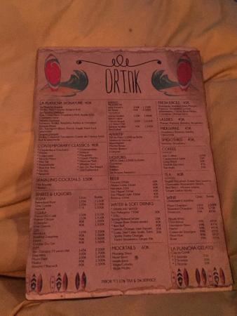 Menu picture of la plancha seminyak tripadvisor for Bar food la menu