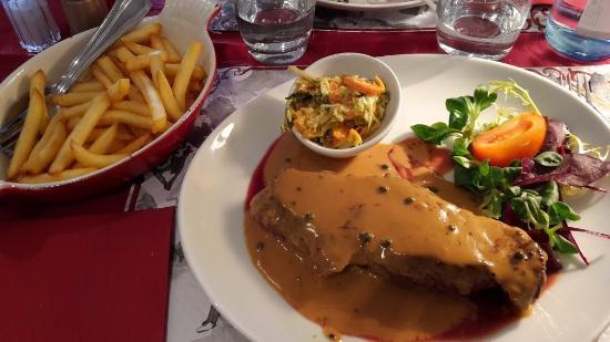 Faux filet sauce poivre photo de restaurant chez - Direct cuisine haguenau ...
