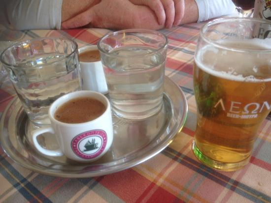 Aristos Taverna: Cyprus Coffee and a Leon - what could be better