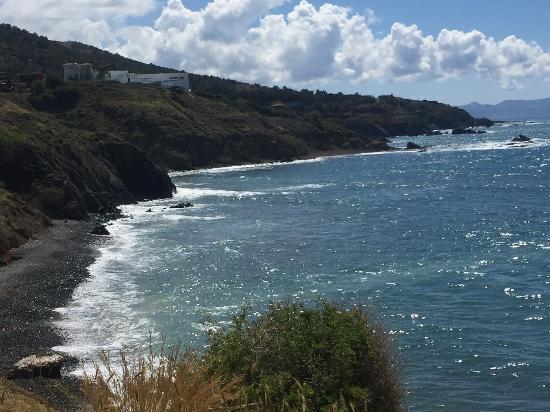 Pomos, Cyprus: Paradise beach from the headland looking towards Polis april 2016