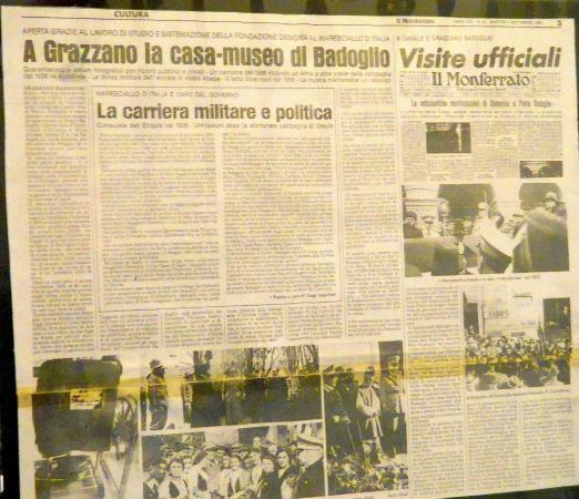 Grazzano Badoglio, إيطاليا: Vecchi giornali