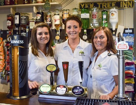 South Wingfield, UK: Three of the key staff, including landlady Denise