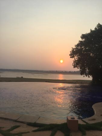 Orange County Resorts Kabini: Sunset at the pool, Nagarhole