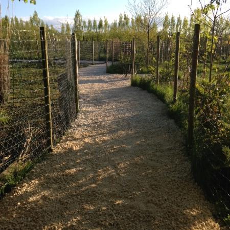 Viry, France : sentiers du parc