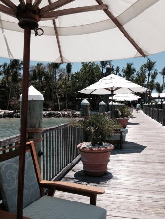 our table at Little Palm Island - Picture of The Dining Room at ...