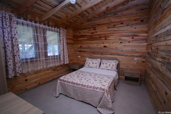 New chalet style bungalow interior defne pansiyon for Chalet style bungalow images