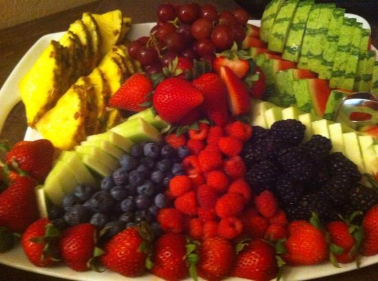 Fresh fruit platters are a breakfast staple