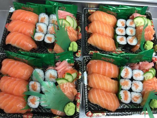 Bromley, UK: Our regular Customers love our Salmon box set. Thanks Kiku!