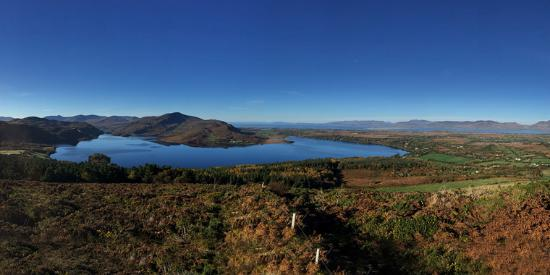 Caragh Lake, Ierland: View from Carrig House