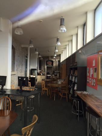 Routes Cafe: Cafe. Bookshop. Farmshop, Internet. All in library