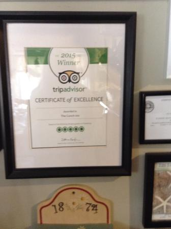 The Conch Inn: 2015 award