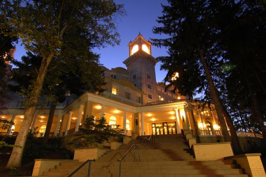 West Baden Springs, IN: Exterior at night