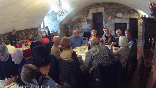 Chateau d'Auzers: Notre déjeuner de groupe