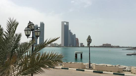 view of abu dhabi from the heritage village
