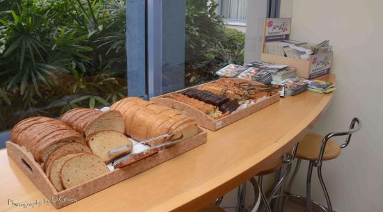 Nof Tavor Hotel: Breakfast - part 5 - there is a toaster for the bread
