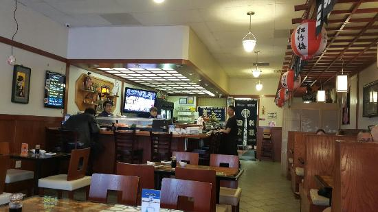 San Mateo, CA: Outside and inside of Shiki restaurant