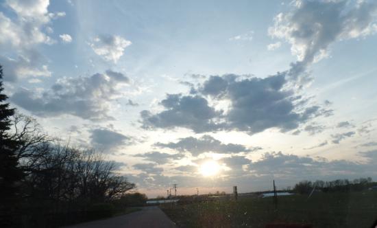 Kasota, MN: The evening sky