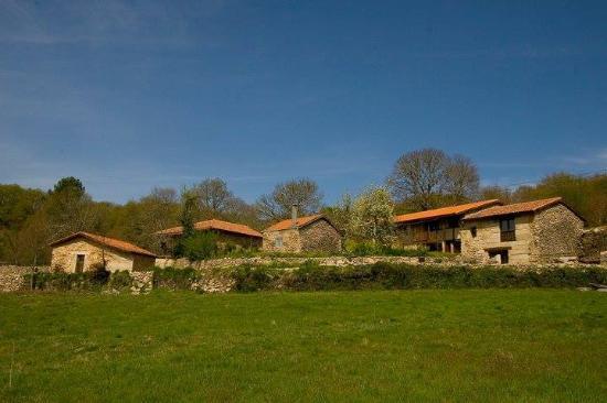 Ourense Province, Spanje: Vista general de la aldea