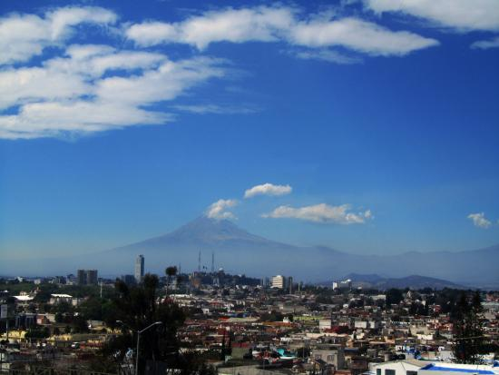Fuerte de Guadalupe : Вид на Попокатепетль