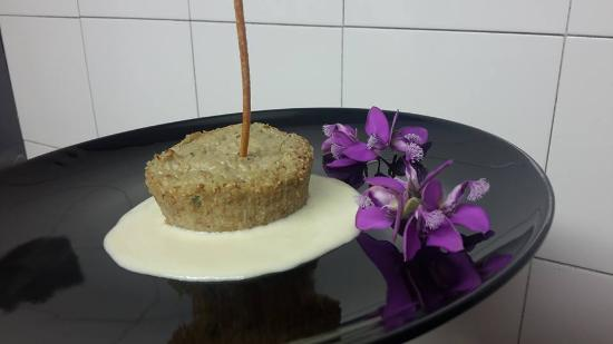 วาลเดริซ, อิตาลี: flan di carciofi su letto di fonduta di ragusano dop