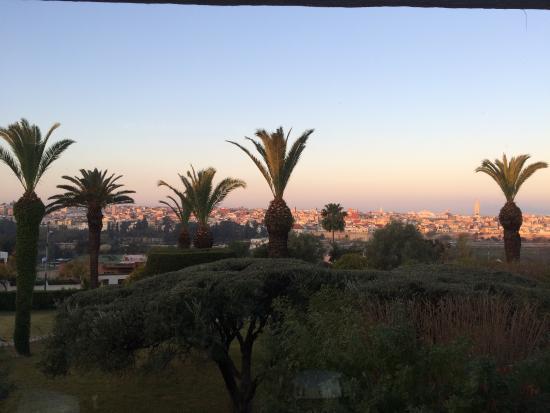 Hotel Transatlantique Meknes: View from the restaurant