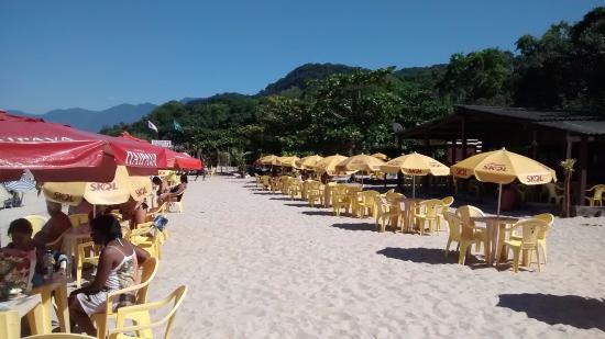 Praia de Sao Lourenco, SP: Estrutura para refeições