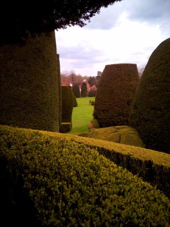 Lapworth, UK: View from the spiral viewpoint in Packwood House garden
