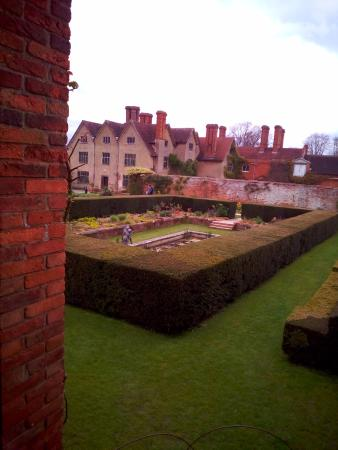 Lapworth, UK: View of garden from brick summer house