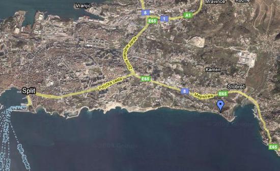Stobrec, Kroatië: Map