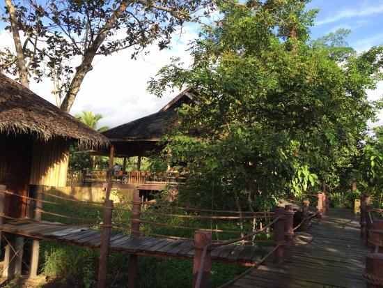 Loboc River Resort: Huts in front and restaurant area int he back. Peaceful place.